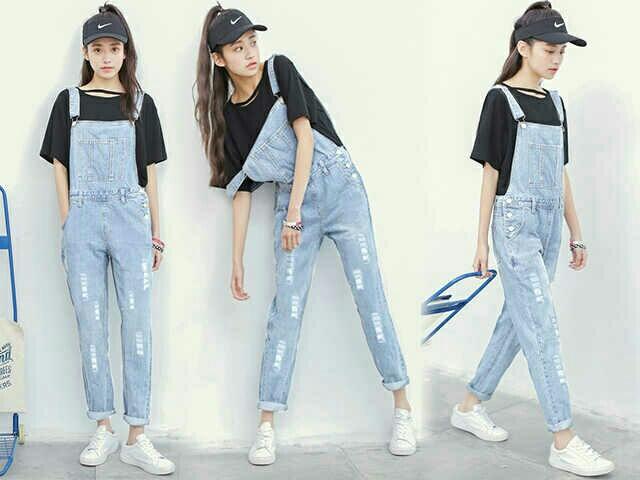 Baju Celana Kodok Jeans Panjang Wanita Dewasa Model Terbaru Ryn