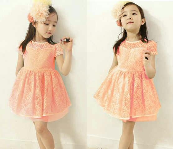 Baju Dress Pesta Anak Perempuan Bahan Brukat Cantik Lucu