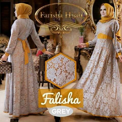 Baju Gamis Model Terbaru Fashion Hijab Brukat Modis & Cantik