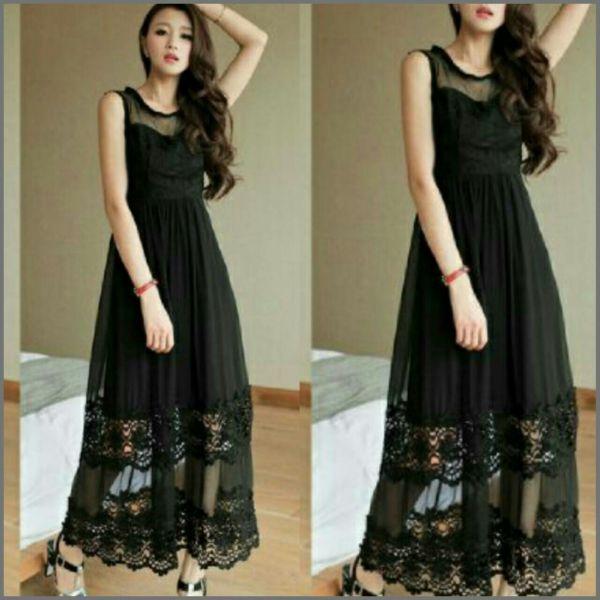 Baju Gaun Long Dress Cantik Model Terbaru Mewah & Murah