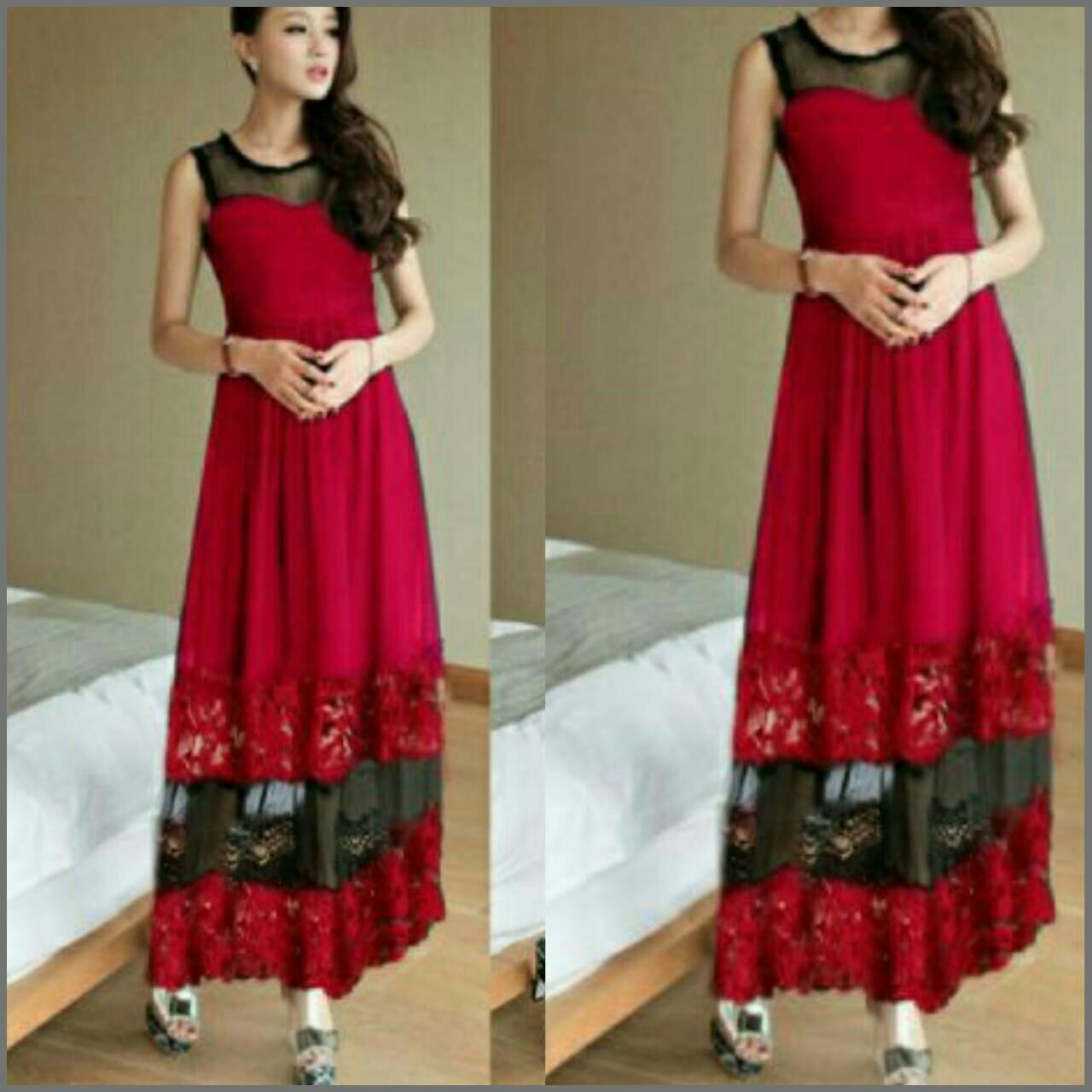 Long dress cantik model terbaru