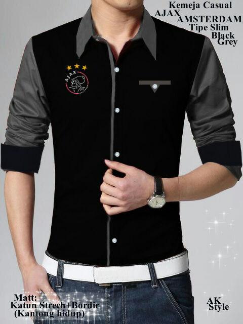 Baju Hem/Kemeja Lengan Panjang Pria Keren Model Terbaru