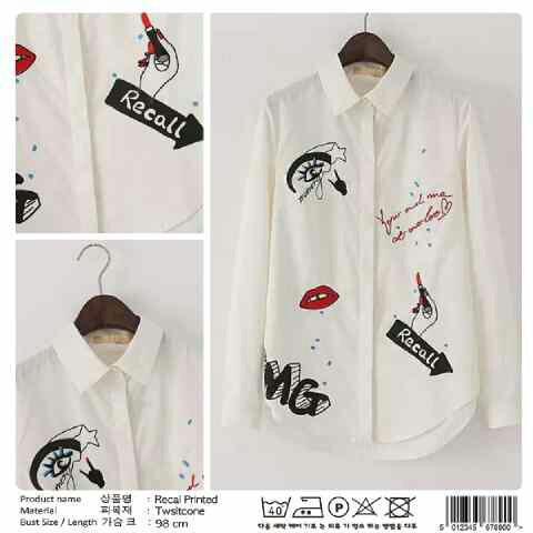 Baju Kemeja Lengan Panjang (Hem) Warna Putih Wanita Terbaru