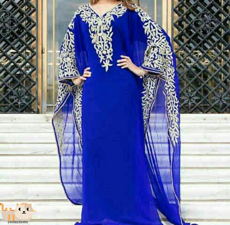 Baju Long Dress Kaftan Cantik dan Modern Model Terbaru