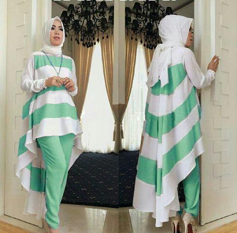 Baju Setelan Celana Fashion Hijab Modis Terbaru dan Murah