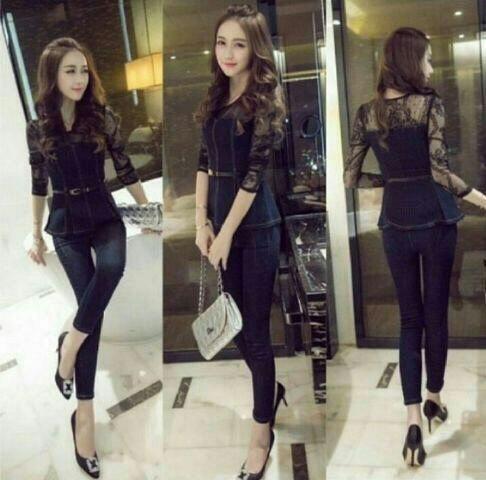 Baju Setelan Celana Wanita Dewasa Model Terbaru Cantik Modern