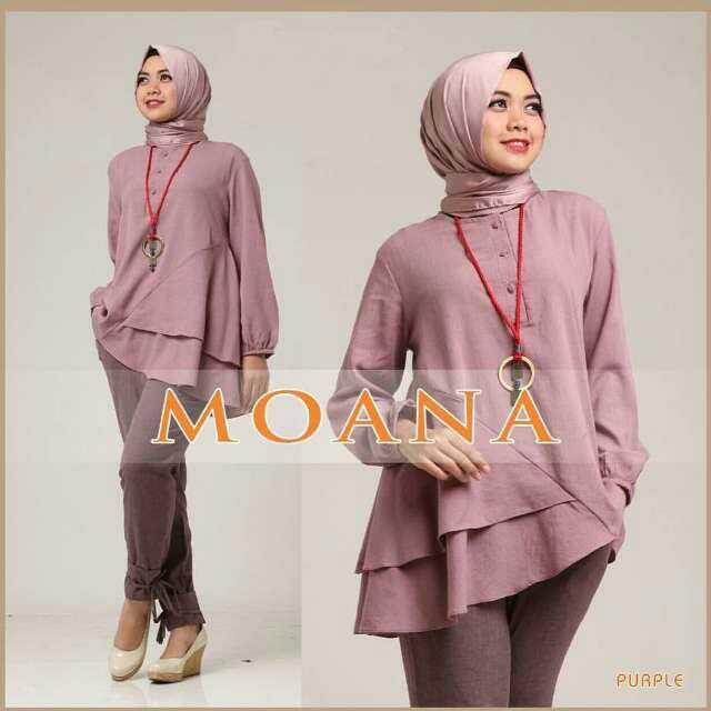 Baju Setelan Fashion Hijab Celana Modis Terbaru 3 In 1 Murah