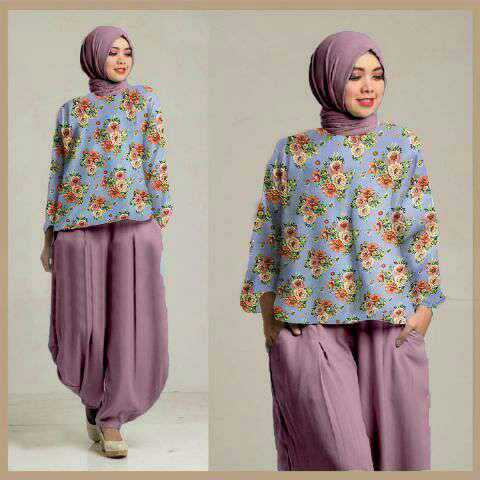 Baju Setelan Fashion Hijab Celana Murah Modis Model Terbaru