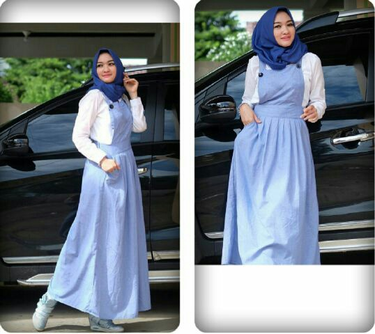 Baju Setelan Fashion Hijab Rok Kodok Terbaru Desain 3 in 1 Modern