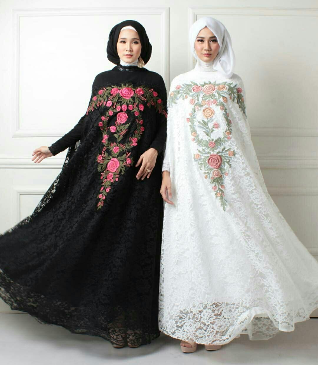 Baju Setelan Kaftan Brukat Fashion Hijab Terbaru Modis Modern