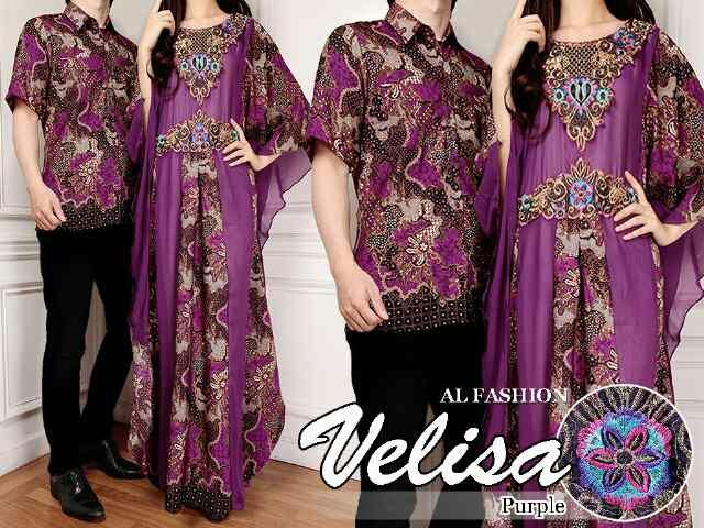 Model Baju Batik Couple Long Dress Terbaru Modern & Murah