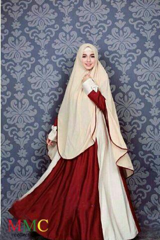 Model Baju Gamis Syari Busui Modern Setelan Jilbab Bergo