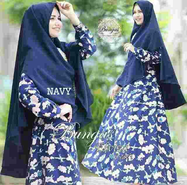 Model Baju Gamis Syari Muslimah Modern Motif Cantik Terbaru
