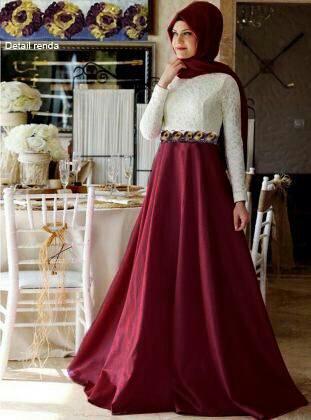 Model Baju Hijab Gamis Brukat Terbaru Desain Cantik & Modern