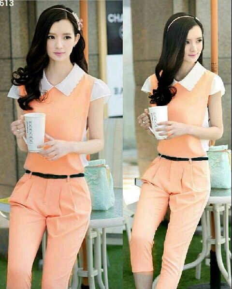 Model Baju Jumpsuit Cantik Warna Salem Terbaru dan Murah