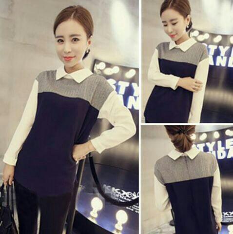 Model Baju Kaos Wanita Lengan Panjang Modis Terbaru
