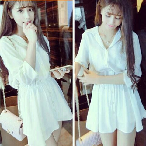 Model Baju Mini Dress Pendek Lengan Panjang Unik Simple