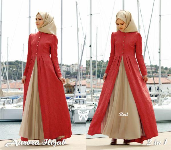 Model Gamis Baju Muslim Fashion Hijab Terbaru Setelan Modern