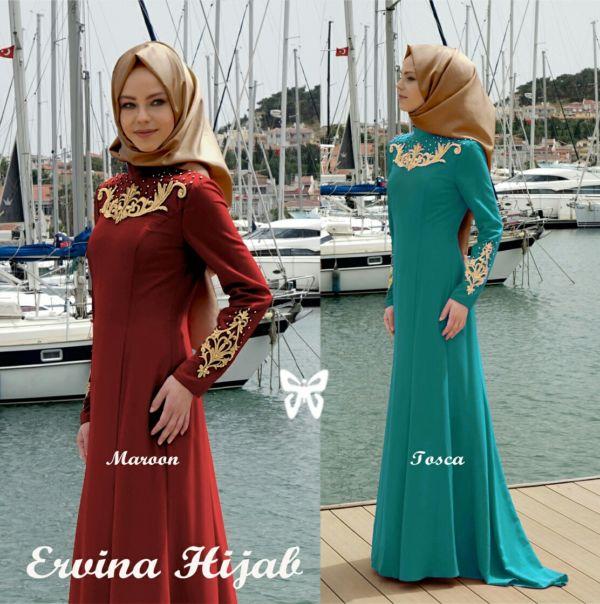 Model Gamis Busana Muslim Setelan Hijab Terbaru Modern & Murah