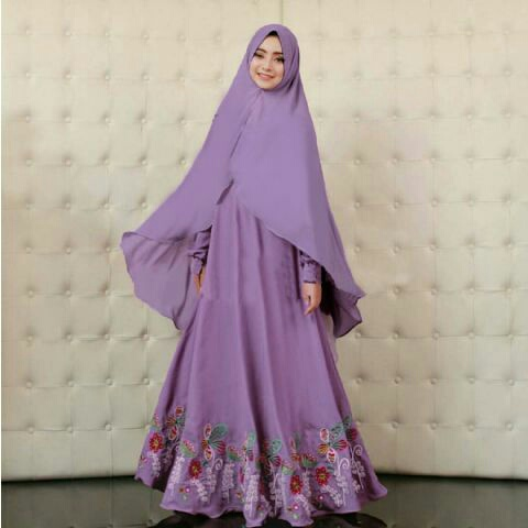 Model Gamis Syari Modern Terbaru Fashion Hijab Cewek Muslimah