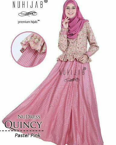 Model Gamis Terbaru Motif Bunga Cantik Fashion Hijab Modis