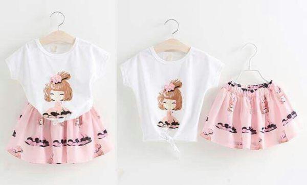Setelan Baju & Rok Mini Anak Perempuan Model Terbaru Cantik & Lucu