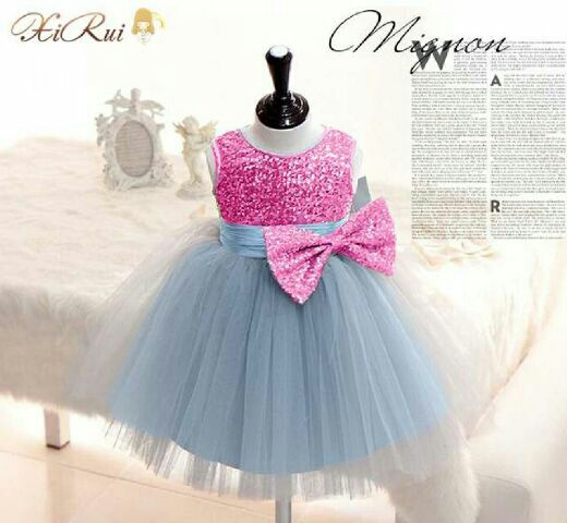 Baju Dress Pesta Anak Perempuan Mewah Cantik Lucu dan Murah