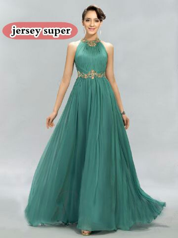 Baju Gaun Cantik Long Dress Panjang Warna Tosca Model Terbaru