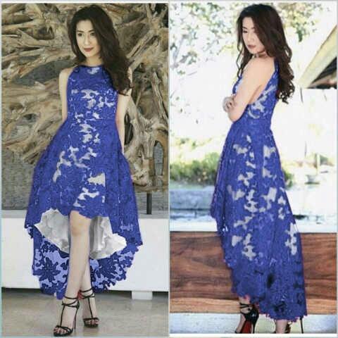 Baju Gaun Pesta Brukat Cantik Murah Desain Model Terbaru Ryn Fashion