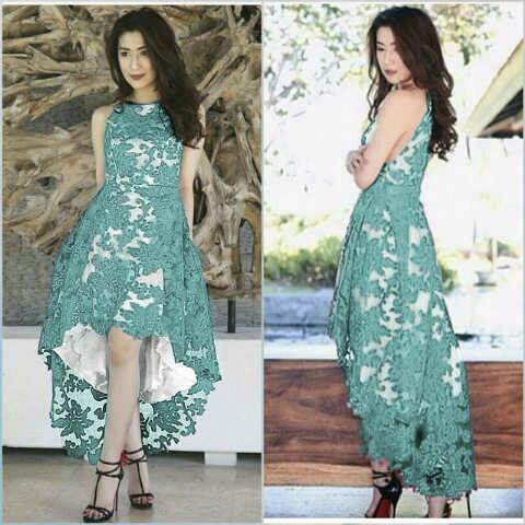 Baju Gaun Pesta Brukat Cantik Murah Desain Model Terbaru