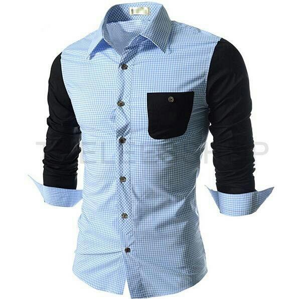 Baju Kemeja Pria Lengan Panjang Warna Kombinasi Keren Terbaru