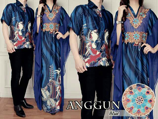 Baju Long Dress Couple Batik Model Terbaru Cantik Modern