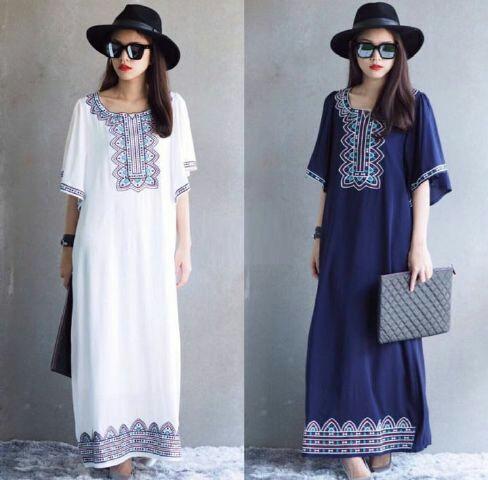 Baju Long Dress Wanita Dewasa Cantik dan Murah Model Terbaru