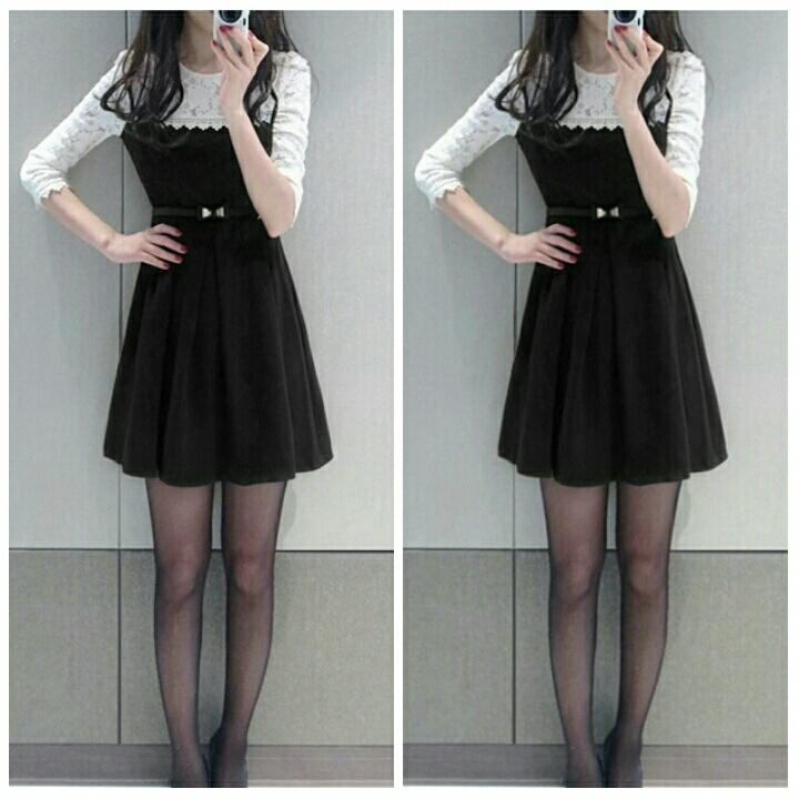 Baju Mini Dress Brukat Pendek Cantik Simple Model Terbaru