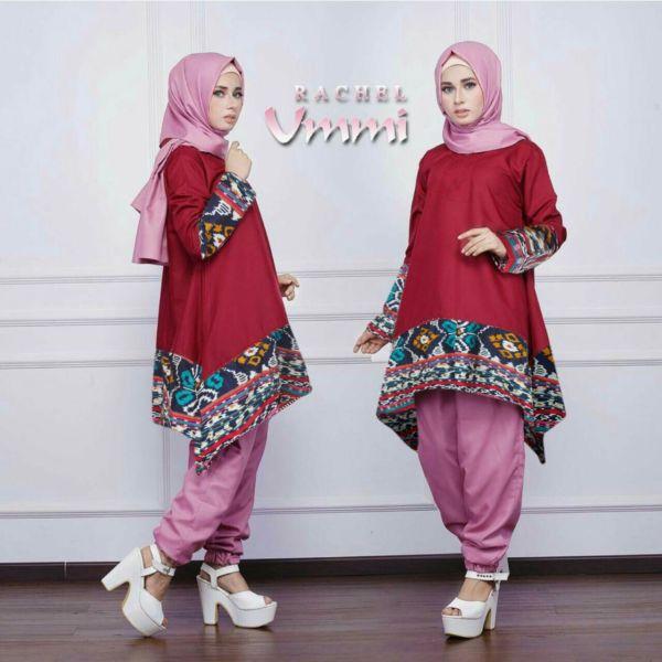 Baju Setelan Hijab Celana Modis Modern dan Murah Model Terbaru