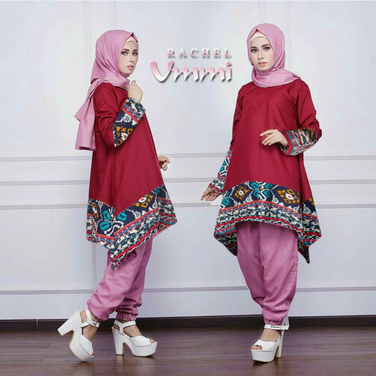 Baju Setelan Hijab Celana Modis Modern dan Murah Model