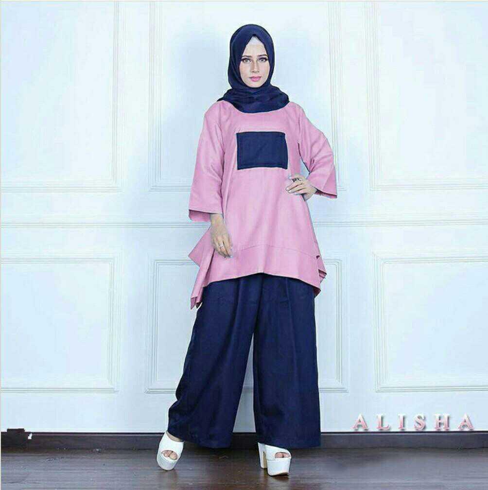 Baju Setelan Hijab Modis 3 in 1 Terkini Modern Model Terbaru
