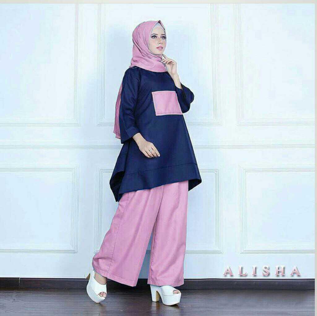 Baju Setelan Hijab Modis 3 In 1 Terkini Modern Model Terbaru Ryn
