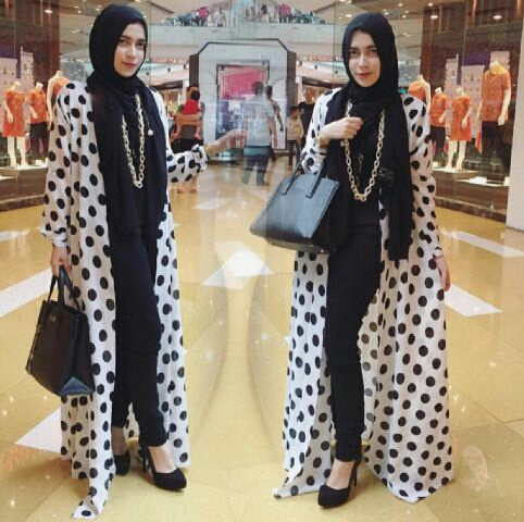 Baju Setelan Long Cardigan Fashioan Hijab Celana Murah Terkini