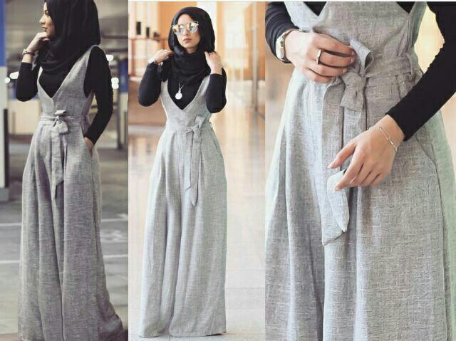 Jumpsuit Rok Kodok Setelan Hijab Modis Model Terbaru Modern