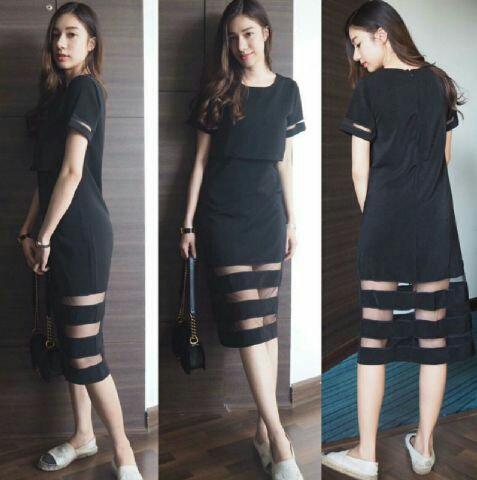 Model Baju Dress Pendek Hitam Terbaru Cantik dan Murah
