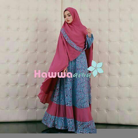 Model Baju Gamis Syari Brukat Modern Terbaru Cantik & Modis