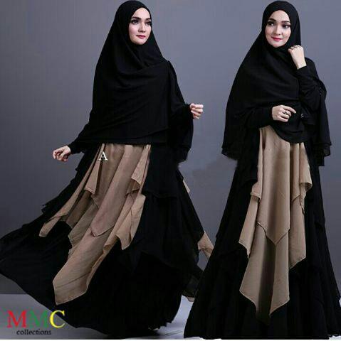 Model Baju Gamis Syari Busui Modern Terbaru Cantik