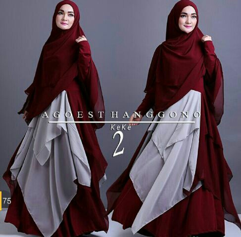 Model Baju Gamis Syari Busui Modern Terbaru & Cantik