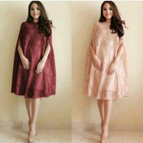 Model Baju Kaftan Brukat Dress Pendek Terbaru Cantik dan Murah