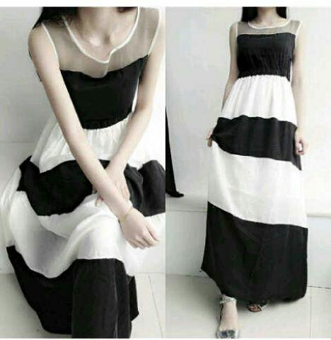 Model Baju Long Dress Terbaru Motif Cantik & Modern