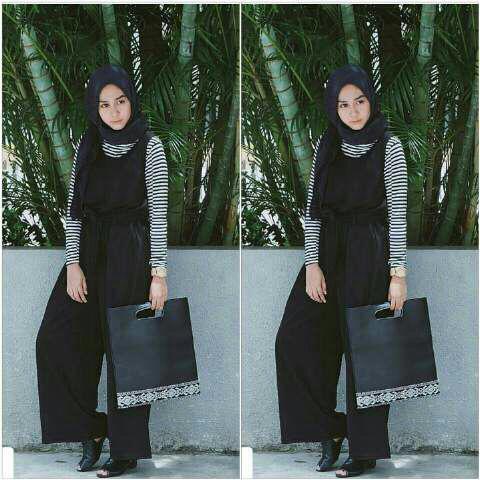 Model Baju Setelan Jumpsuit Hijab Cantik Panjang Terbaru