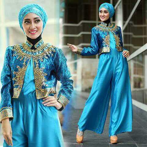 Model Baju Setelan Jumpsuit Hijab Cantik Terbaru Modis & Murah