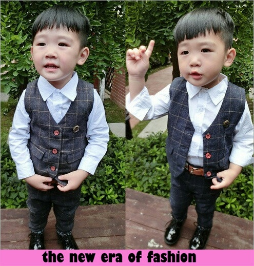 Model Baju Setelan Kemeja & Rompi Anak Laki-laki Jaman SekarangModel Baju Setelan Kemeja & Rompi Anak Laki-laki Jaman Sekarang