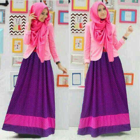 Model Gamis Modern Terbaru Baju Setelan Fashion Hijab Terkini
